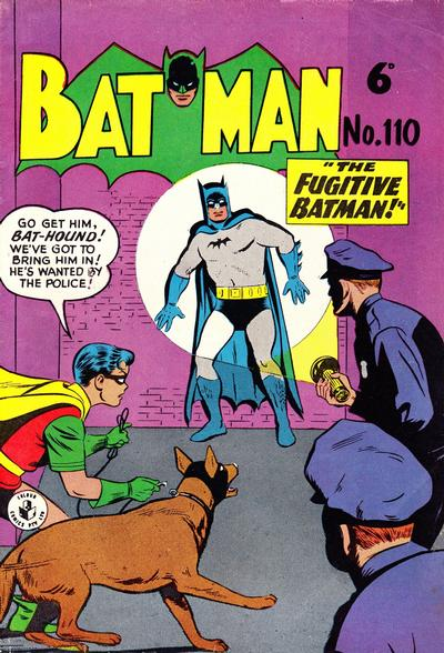 Cover for Batman (K. G. Murray, 1950 series) #110