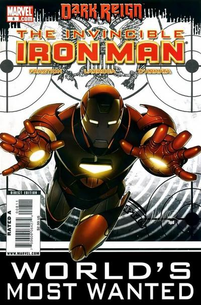 Cover for Invincible Iron Man (Marvel, 2008 series) #8 [Bill Sienkiewicz Variant Cover]