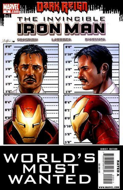 Cover for Invincible Iron Man (Marvel, 2008 series) #9 [2nd Printing]