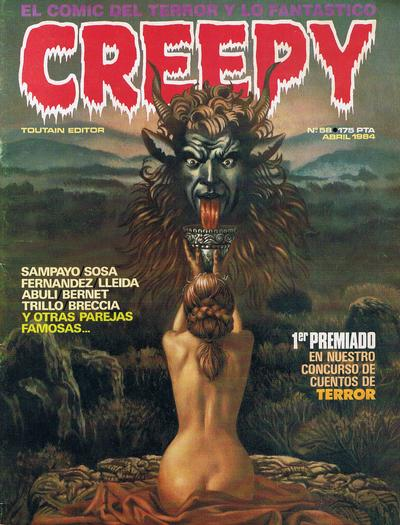 Cover for Creepy (Toutain Editor, 1979 series) #58