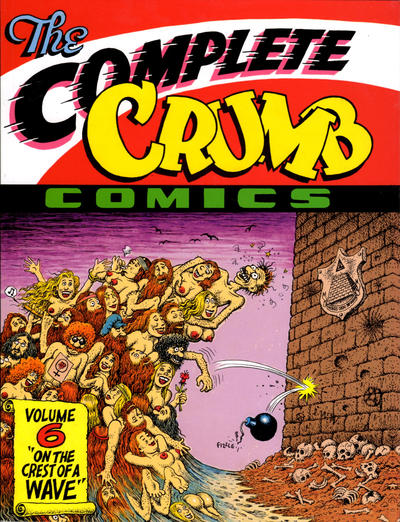 Cover for The Complete Crumb Comics (Fantagraphics, 1987 series) #6 - On the Crest of a Wave