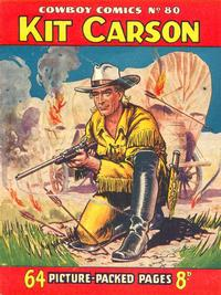 Cover for Cowboy Comics (Amalgamated Press, 1950 series) #80