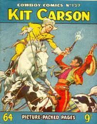 Cover Thumbnail for Cowboy Comics (Amalgamated Press, 1950 series) #137