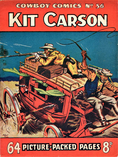 Cover for Cowboy Comics (Amalgamated Press, 1950 series) #56
