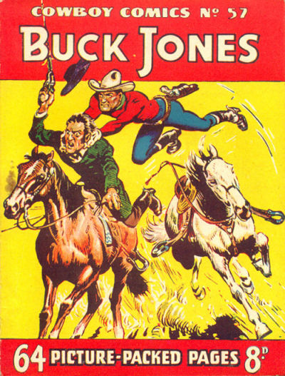 Cover for Cowboy Comics (Amalgamated Press, 1950 series) #57