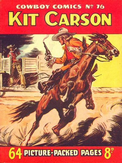 Cover for Cowboy Comics (Amalgamated Press, 1950 series) #76