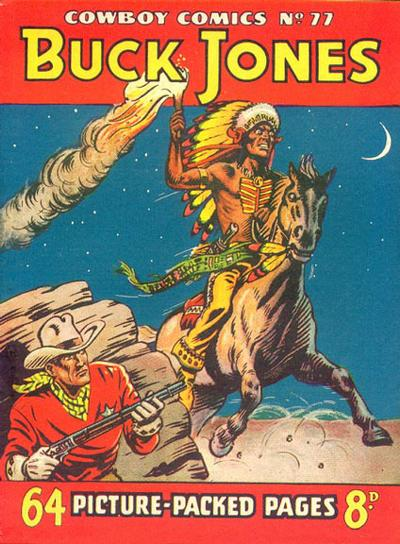 Cover for Cowboy Comics (Amalgamated Press, 1950 series) #77