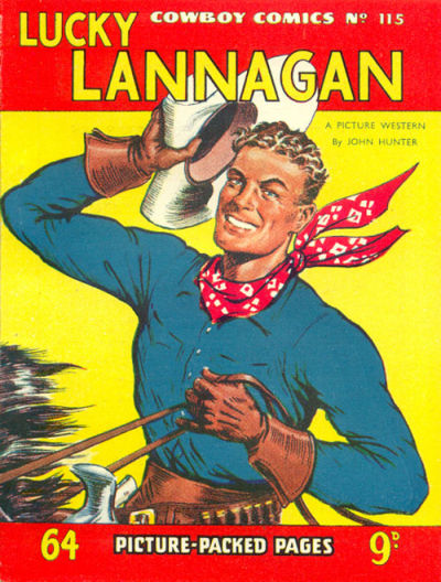 Cover for Cowboy Comics (Amalgamated Press, 1950 series) #115