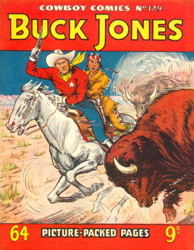 Cover for Cowboy Comics (Amalgamated Press, 1950 series) #129