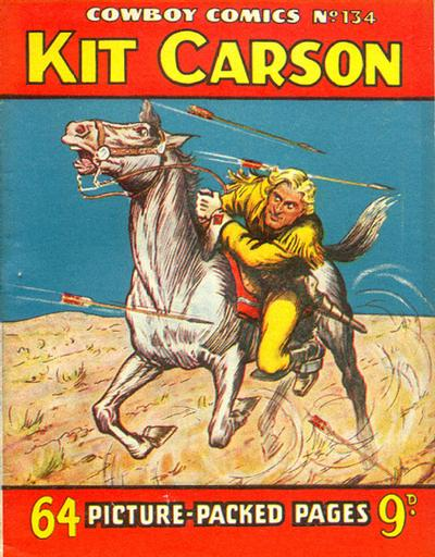 Cover for Cowboy Comics (Amalgamated Press, 1950 series) #134