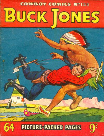 Cover for Cowboy Comics (Amalgamated Press, 1950 series) #135