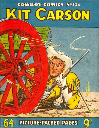 Cover for Cowboy Comics (Amalgamated Press, 1950 series) #136