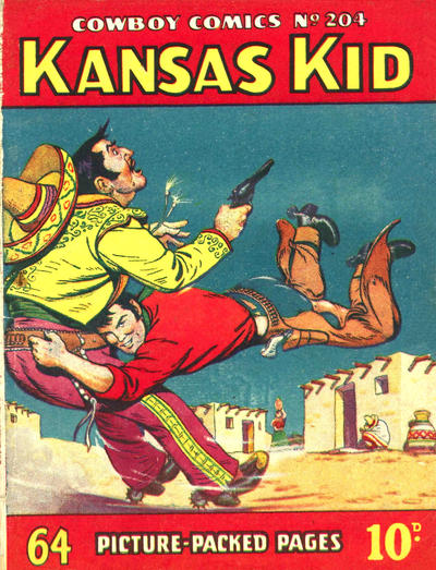 Cover for Cowboy Comics (Amalgamated Press, 1950 series) #204