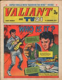 Cover Thumbnail for Valiant and TV21 (IPC, 1971 series) #11th December 1971
