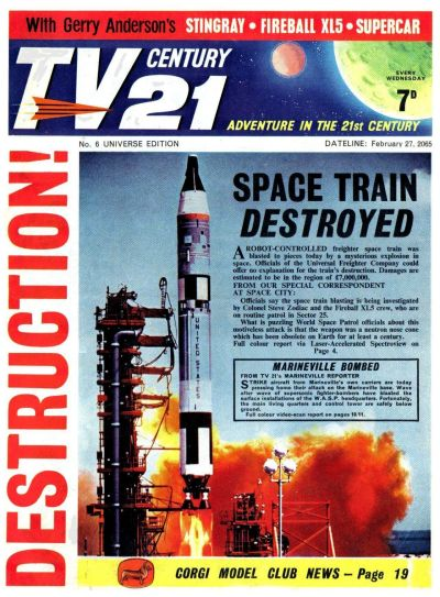 Cover for TV Century 21 (City Magazines; Century 21 Publications, 1965 series) #6