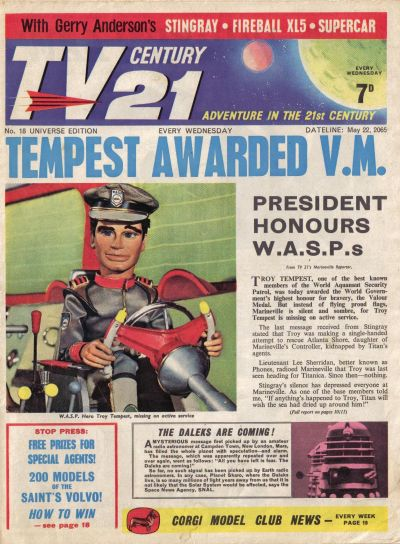 Cover for TV Century 21 (City Magazines; Century 21 Publications, 1965 series) #18