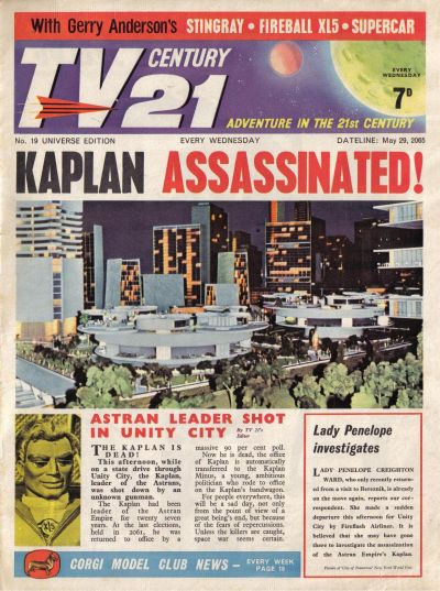 Cover for TV Century 21 (City Magazines; Century 21 Publications, 1965 series) #19