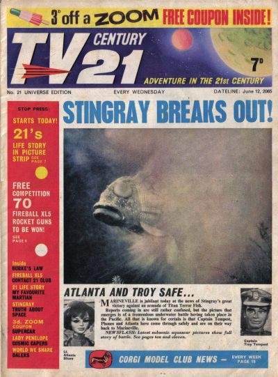 Cover for TV Century 21 (City Magazines; Century 21 Publications, 1965 series) #21
