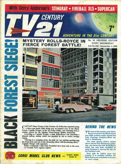 Cover for TV Century 21 (City Magazines; Century 21 Publications, 1965 series) #33