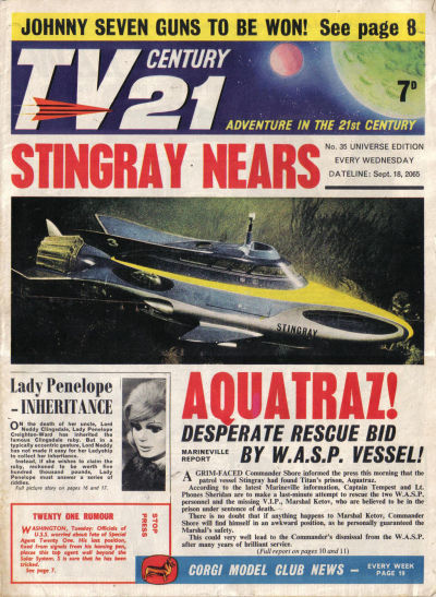 Cover for TV Century 21 (City Magazines; Century 21 Publications, 1965 series) #35
