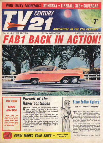 Cover for TV Century 21 (City Magazines; Century 21 Publications, 1965 series) #42