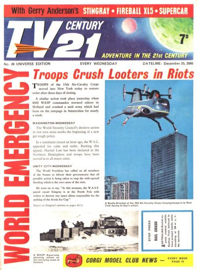 Cover for TV Century 21 (City Magazines; Century 21 Publications, 1965 series) #49