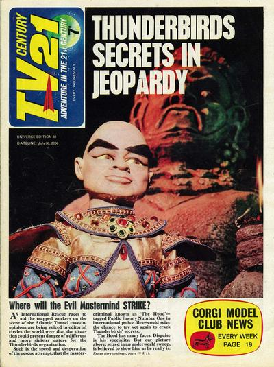 Cover for TV Century 21 (City Magazines; Century 21 Publications, 1965 series) #80