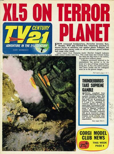 Cover for TV Century 21 (City Magazines; Century 21 Publications, 1965 series) #96