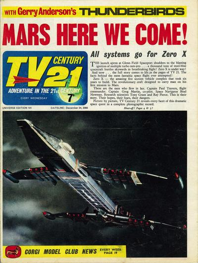 Cover for TV Century 21 (City Magazines; Century 21 Publications, 1965 series) #101