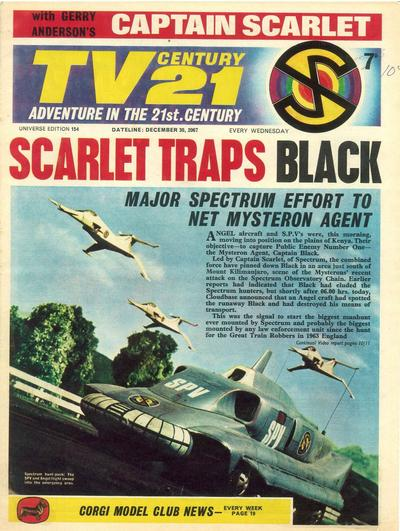 Cover for TV Century 21 (City Magazines; Century 21 Publications, 1965 series) #154