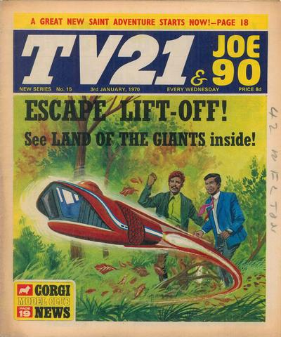 Cover for TV21 & Joe 90 (City Magazines; Century 21 Publications, 1969 series) #15