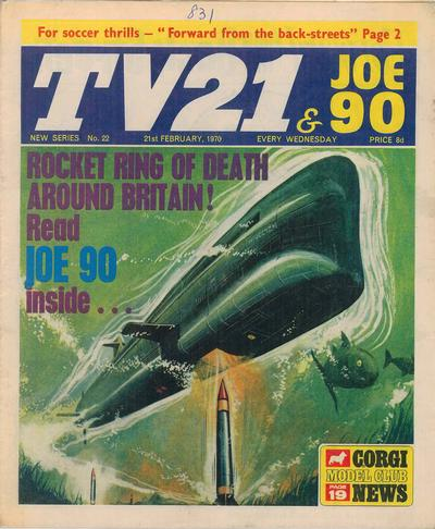 Cover for TV21 & Joe 90 (City Magazines; Century 21 Publications, 1969 series) #22