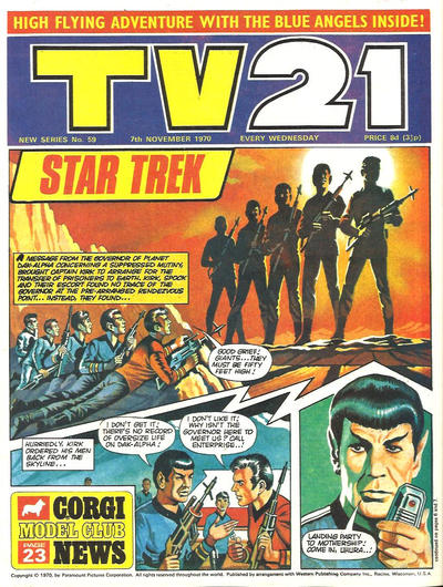 Cover for TV21 (City Magazines, 1970 series) #59