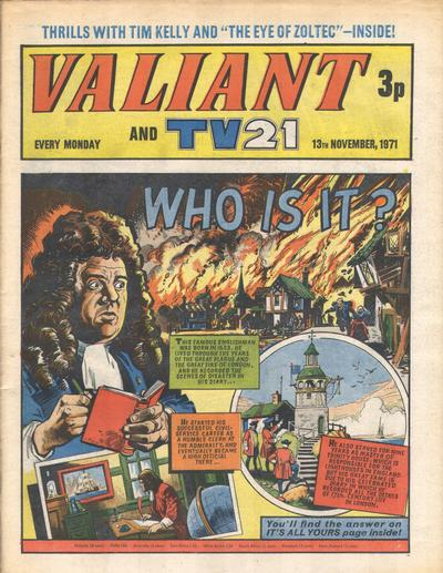 Cover for Valiant and TV21 (IPC, 1971 series) #13th November 1971