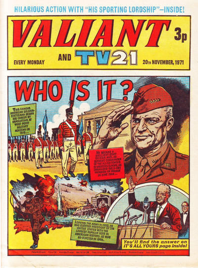 Cover for Valiant and TV21 (IPC, 1971 series) #20th November 1971