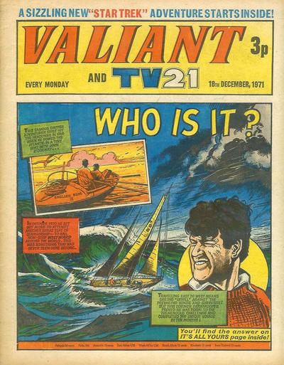 Cover for Valiant and TV21 (IPC, 1971 series) #18th December 1971