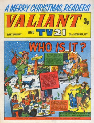 Cover for Valiant and TV21 (IPC, 1971 series) #25th December 1971