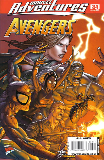 Cover for Marvel Adventures The Avengers (Marvel, 2006 series) #34