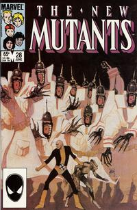 Cover Thumbnail for The New Mutants (Marvel, 1983 series) #28 [Direct Edition]