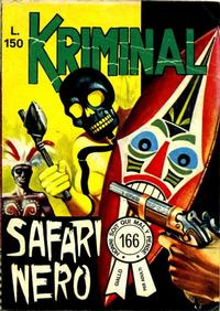 Cover Thumbnail for Kriminal (Editoriale Corno, 1964 series) #166