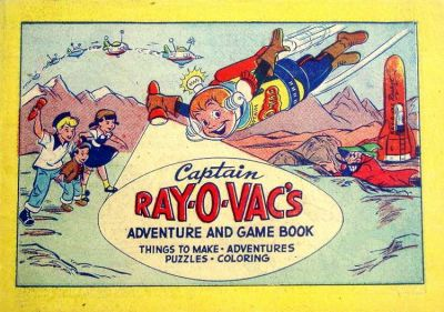 Cover for Captain Ray-O-Vac's Adventure and Game Book (Western, 1952 series)
