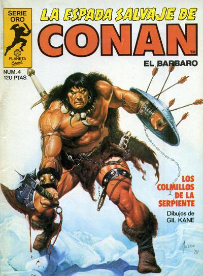 Cover for La Espada Salvaje de Conan (Planeta DeAgostini, 1982 series) #4