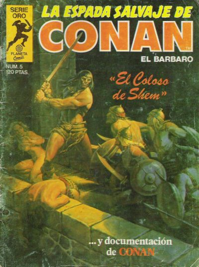 Cover for La Espada Salvaje de Conan (Planeta DeAgostini, 1982 series) #5