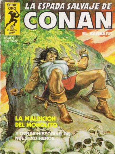 Cover for La Espada Salvaje de Conan (Planeta DeAgostini, 1982 series) #6