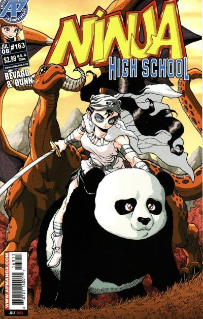 Cover for Ninja High School (Antarctic Press, 1994 series) #163