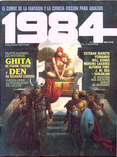 Cover for 1984 (Toutain Editor, 1978 series) #34