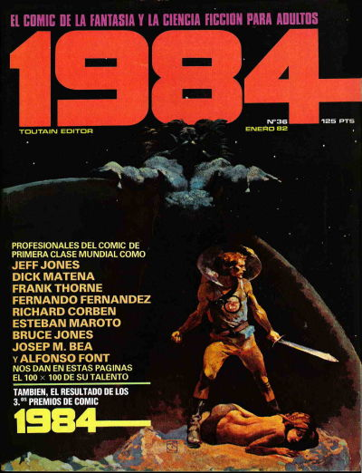 Cover for 1984 (Toutain Editor, 1978 series) #36