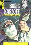 Cover for Boris Karloff (BSV - Williams, 1967 series) #6