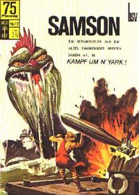 Cover Thumbnail for Samson (BSV - Williams, 1966 series) #12