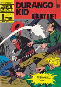 Cover Thumbnail for Sheriff Klassiker (BSV - Williams, 1964 series) #193